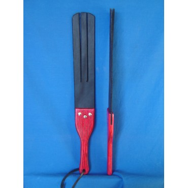 Trident Triple Tawse Rubber Spanking Paddle Red